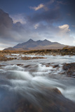 Black Cuillin Mountains with the River Sligachan  Isle of Skye  Inner Hebrides  Scotland  UK