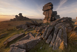 Great Staple Tor in Late Evening Light  Dartmoor Np  Devon  England  UK January