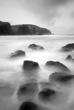 Long Exposure of Sea  with Rocks in Foreground  Bagh Dhail Mor  Isle of Lewis  Scotland  UK
