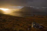 Rain Clouds over Ben More Coigach and Loch Lurgainn at Dawn  Coigach  Highland  Scotland  UK