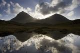 Quinag (Sail Ghorm and Sail Gharbh) and Moorland Pool  Assynt  Sutherland  Nw Scotland  UK  October