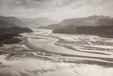 Mawddach Estuary at Low Tide  Barmouth  Snowdonia National Park  Gwynedd  Wales  May 2012