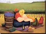 Pique-nique d'été Tableau sur toile par Lowell Herrero