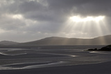 Traigh Losgaintir Beach and Estuary in Evening Light  North Harris  Scotland  UK  May