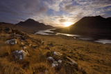 Loch Lurgainn  Cul Mor (Left) and Ben More Coigach at Dawn  Coigach  Highland  Scotland  UK
