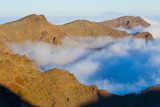 Mountains with Low Clouds Surrounding Them  La Caldera De Taburiente Np  La Palma  Canary Islands