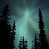 Aurora Borealis Showing Radial Effect
