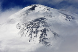 Mount Elbrus  the Highest Mountain in Europe (5 642M) Surrounded by Clouds  Caucasus  Russia