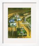 Vintage Sports Car Road Race Poster