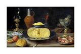 Breakfast Still Life with Cheese and Goblets