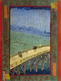 Bridge in the Rain (After Hiroshige) Giclée par Vincent Van Gogh
