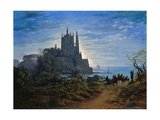 Gothic Church on a Cliff by the Sea by Karl Friedrich Schinkel
