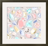Seamless Pastel Diamonds Pattern Background With Colorful Gemstones