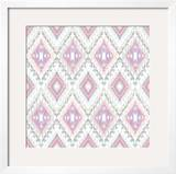 Abstract Geometric Seamless Aztec Pattern Colorful Ikat Style Pattern