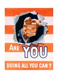 Are You Doing All You Can World War II Poster