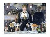 Un bar aux Folies-Bergère Giclée par Édouard Manet