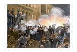 Illustration of Haymarket Riot in Chicago