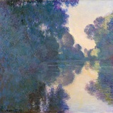 Morning on the Seine Near Giverny Giclée par Claude Monet