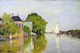 Houses on the Achterzaan Giclée par Claude Monet