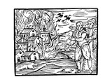 Witches Destroying a House by Fire