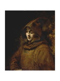 Portrait of Rembrandt's Son Titus  Dressed as a Monk