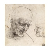 Study for the Heads of Two Soldiers in the Battle of Anghiari