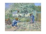 First Steps, after Millet Giclée par Vincent Van Gogh