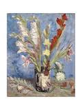 Vase with Gladioli and China Asters Giclée par Vincent Van Gogh