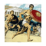 Relay Race at Ancient Olympic Games