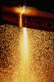 Acetylene Torch Cutting Steel Beams