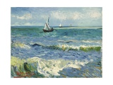 Seascape Near Les Saintes-Maries-De-La-Mer Reproduction d'art par Vincent Van Gogh