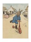 Illustration of Rabbit on Kick Scooter