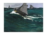 The Green Wave Giclée par Claude Monet