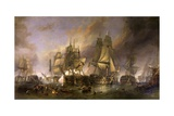 La bataille de Trafalgar Giclée par William Clarkson Stanfield