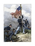 Planting the Union Flag on a Bastion at the Siege of Vicksburg