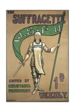 Poster Advertising the Suffragette Newspaper