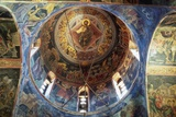 Fresco of Jesus Christ as Pantocrator in the Monastery of Varlaam  Greece