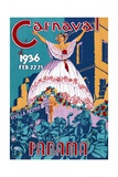 Poster for the 1936 Panama Carnaval