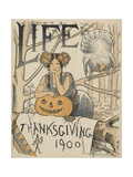 Thanksgiving 1900 Cover of Life Magazine