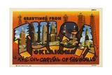 Greeting Card from Tulsa  Oklahoma