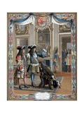 Louis XIV Proclaiming Duc D'Anjou King of Spain