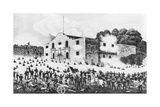 Lithograph of the Siege of the Alamo