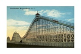 Giant Coaster  Brighton Beach NY Postcard