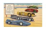 Famous Speed Racers on the Measured Mile  Daytona Beach  Florida Postcard