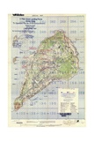 US Landing and Targeting Map of Iwo Jima