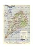 US Landing and Targeting Map of Iwo Jima Giclée