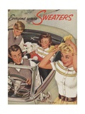 Family Wearing Sweaters in Convertible