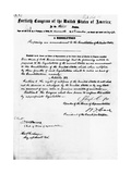 Manuscript of Fifteenth Amendment to the Constitution