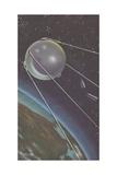 Sputnik I Orbiting around Earth