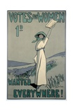 Votes for Women Wanted Everywhere Poster